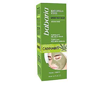 Babaria cannabis masque vert facial Piel mixta/Grasa 100 ml unisexe