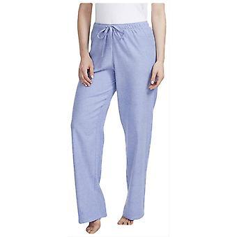 Boxers britânicos Staffordshire Herringbone flanela pijama calças-azul