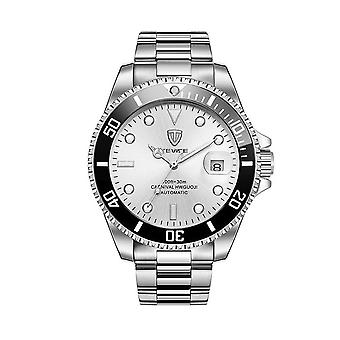 Mens Homage Automatic Watch White Silver Smart Watches Date Designer Gift