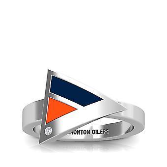Anillo de diamantes Edmonton Oilers en diseño de plata de ley por BIXLER