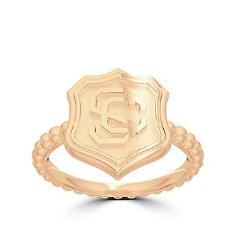 USC Vintage Mark Ring In 14k Yellow Gold