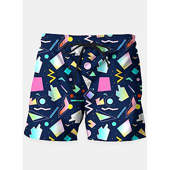 Funny colorful pattern shorts