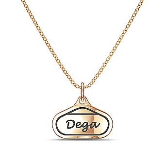 Talladega durante el collar en 14K diseño de oro rosa por BIXLER
