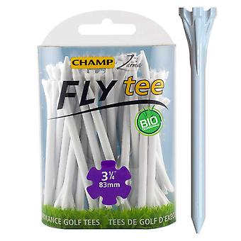 Champ Fly Tee Golf Tee 83 mm 3 1/4 Inch White