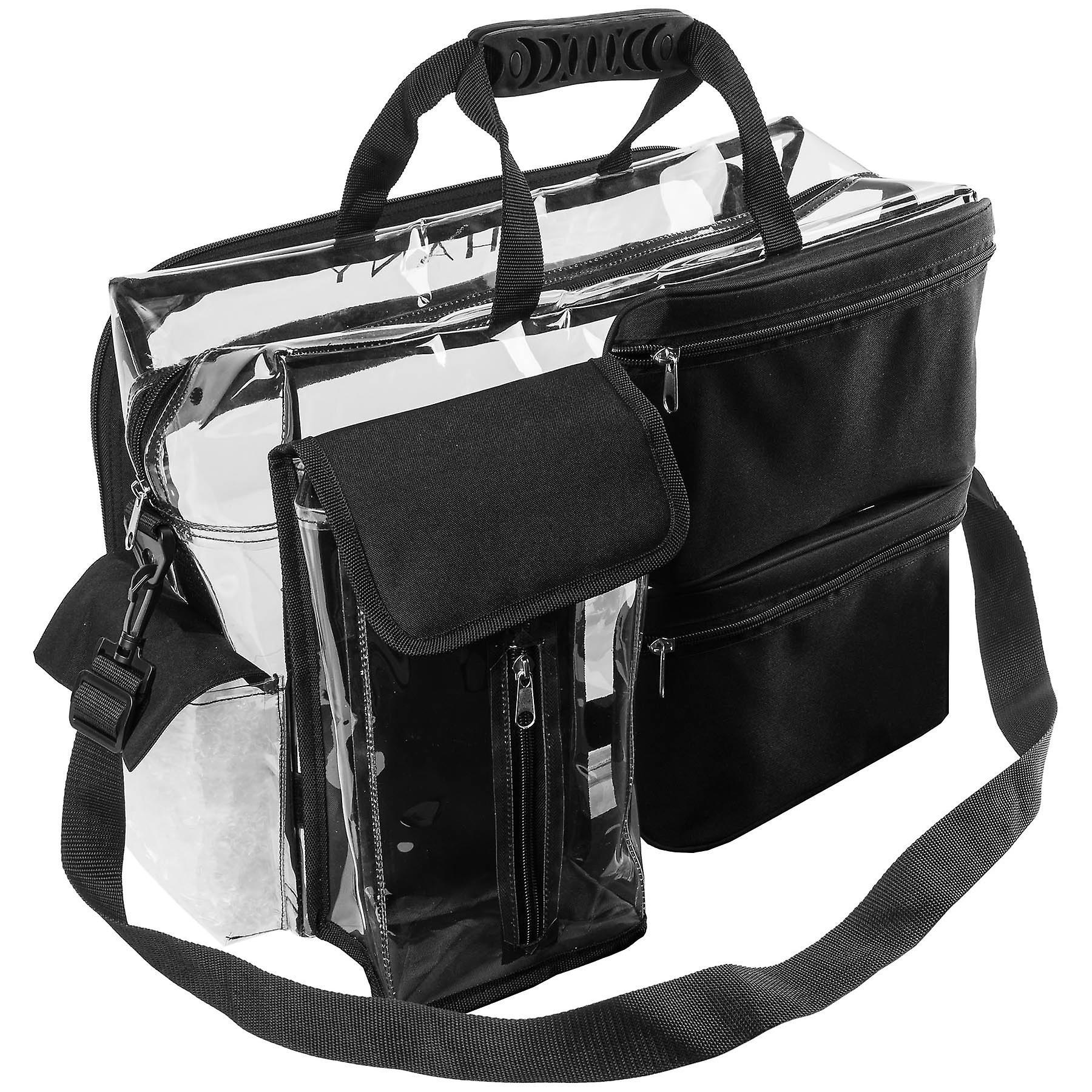 SAC d'artiste de maquillage de voyage de SHANY avec des compartiments amovibles - sac fourre-tout clair avec des poches amovibles - Organisateur de maquillage - clair/noir