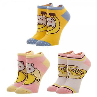 Ankle Sock - Bananya - 3 Pack Juniors New xs61vvcru