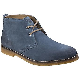 Basis Londen Mens Perry Burnished Leather Blue