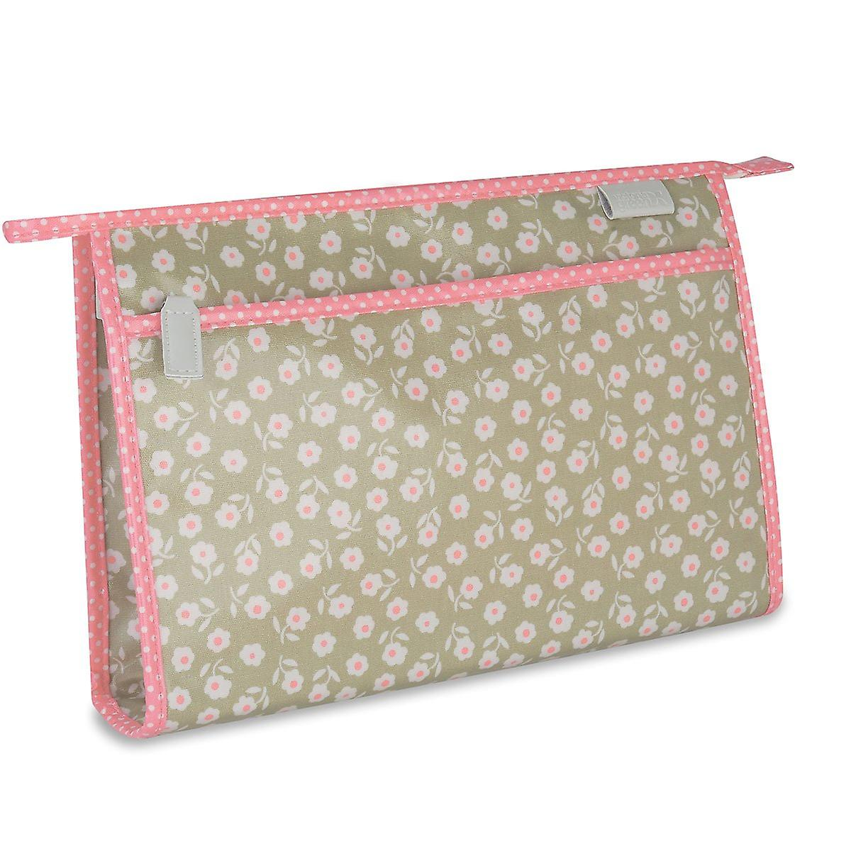 'victoria green' classic wash bag - daisy sage