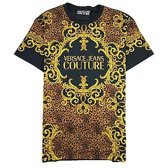 Versace Jeans Couture Baroque Print Jersey T-shirt Black 899