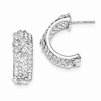 925 sterling sølv poleret cubic zirconia og krystal post øreringe