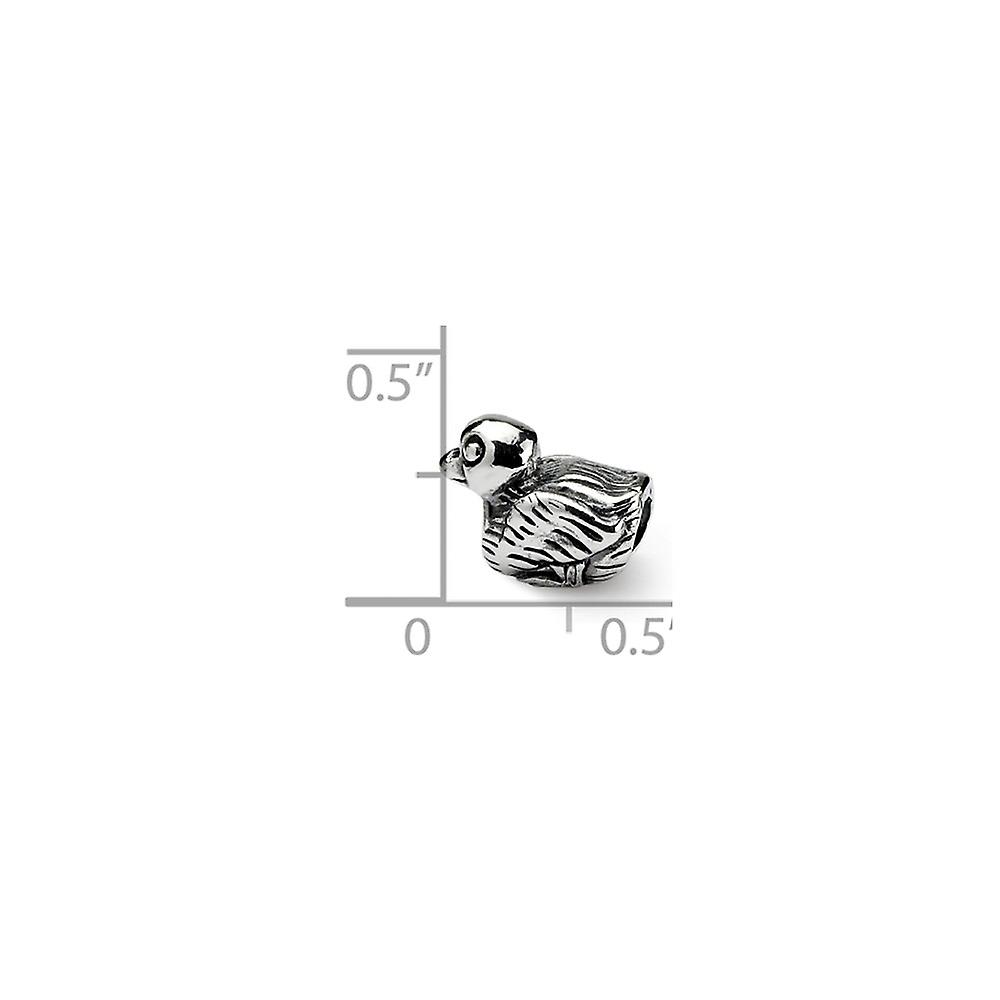 925 Sterling Silver Polished finish Reflections SimStars Kids Duck Bead Charm Pendant Necklace Jewelry Gifts for Women