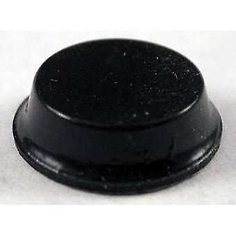 Hammond elektronik 1421T2 fot självhäftande, cirkulär svart (Ø x H) 12,7 mm x 3,5 mm 24 dator