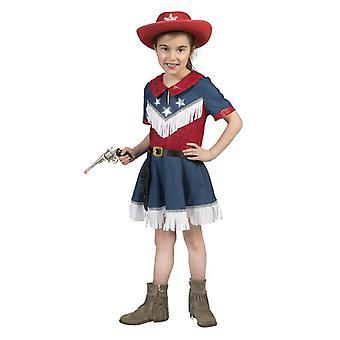 Cowgirl Kinder Kostüm Wild West Amerika Mädchen Kinderkostüm Westernkleid