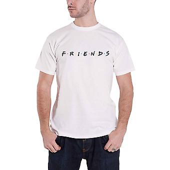 Friends T Shirt classic Logo TV Show Joey Chandler new Official Mens White