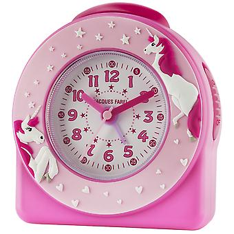 JACQUES FAREL Children's wekker wekker analoge Quartz Unicorn meisje ACW 50 roze