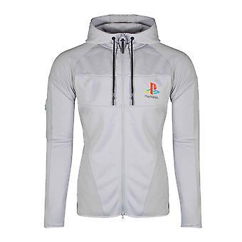 PlayStation huppari PS1 tekninen logo uusi virallinen miesten harmaa veto ketju