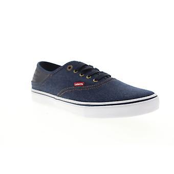 Levis Monterey Denim Hombres Lona Azul Zapatos De sneakers Low Top