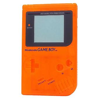 Replacement housing shell case repair kit for nintendo game boy dmg-01 - clear orange