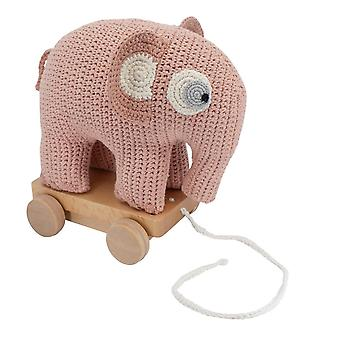 Sebra - pull-along toy - fanto the elephant - pink