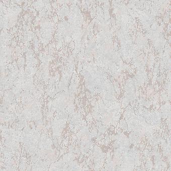 Arlo Textur Metallic Wallpaper Grau / Rose Gold Muriva 162103