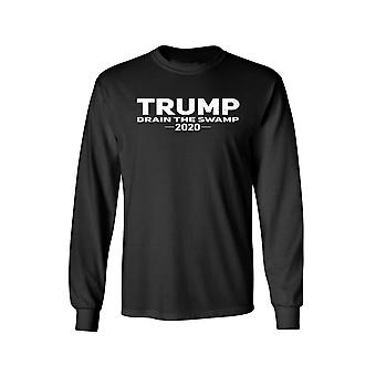 F1702EZ.LST - Unisex Trump Drain the Swamp Long Sleeve Shirt