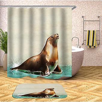 Splashing Water Seal Shower Curtain