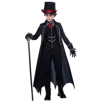 Boys Age 8 - 14 Kids Gothic Vampire Halloween Fancy Dress Costume