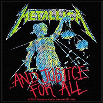 Metallica Patch And Justice For All band logo Official New Black (10cm x 9cm)