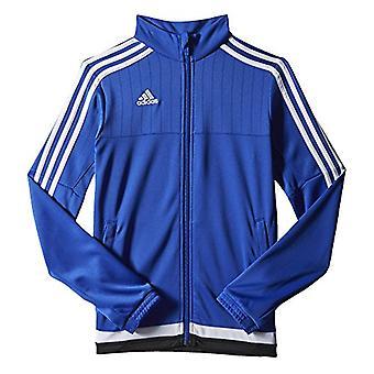 Adidas kvinnor ' s tiro 15 träningsjacka, fet, fet blå/vit/svart, storlek small