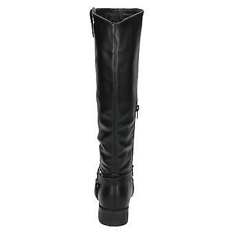 Spot sobre cinta de anel cravejado de mulheres/senhoras altura do joelho, botas