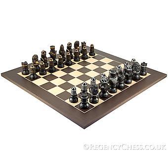 Richard Löwenherz Hand gemalt Wenge Schachspiel