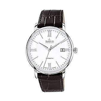 Dugena Watch Analog automatic men's watch with leather 7000194
