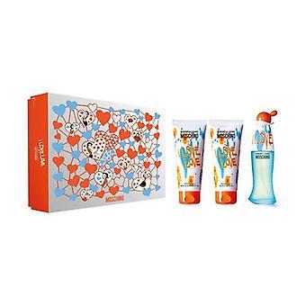 Ensemble de parfums pour femmes bon marché et chic Love Love Moschino (3 pcs)