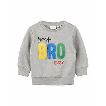 Name-It Grijze Sweater Dada Best Bro Ever