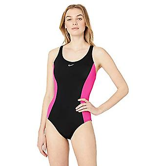 Nike Swim Women's Color Surge Powerback One Piece Swimsuit, Black, X-Large