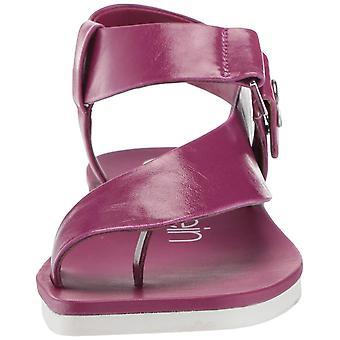 Calvin Klein Womens Rikki Leather Peep Toe Casual Ankle Strap Sandals