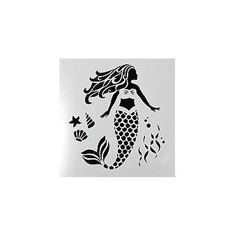 Cake Star Mermaid Stencil
