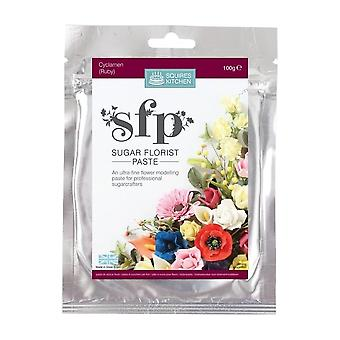 Squires Kitchen SFP Sugar Florist Paste Cyclamen (Ruby) 100g