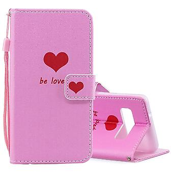 Pour Samsung Galaxy S10 Case Heart Pattern PU Leather Folio Cover