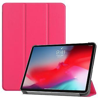 Voor iPad Pro 11 Inch (2018) Zaak Magenta Karst Texture PU Lederen Folio Cover
