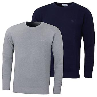 Lacoste mens 2020 Crew Neck bomull Pique tröja