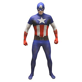 Adult Captain America Value Morphsuit