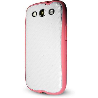 Technocel Hybrigel Case for Samsung Galaxy S3 - White/Pink