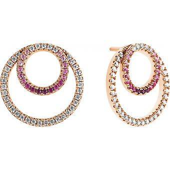 Earrings Zeades Ser02059 - earrings rose gold ruby woman