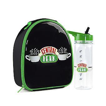 Friends Lunch Bag & 600ml Sports Bottle Set Central Perk Black