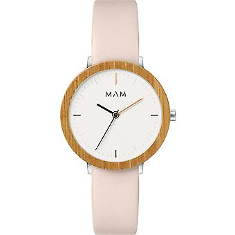 Mam Original Japanese Quartz Analog Woman Watch with FERRA 631 Cowskin Bracelet