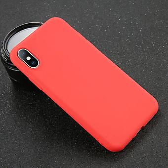 USLION iPhone XS Max Ultraslim Silikonikotelo TPU-kotelon kansi punainen