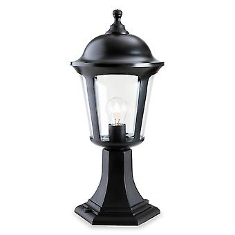 Firstlight Jaded Modern Black Outdoor Garden Pillar Top Lantern