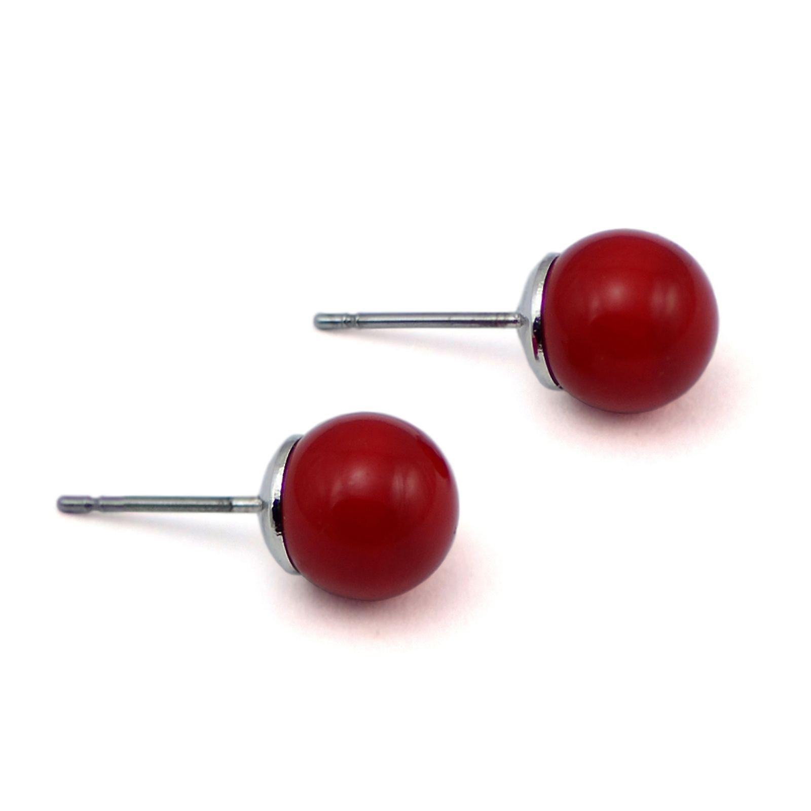 Stud Earrings with Crystal Pearls EMB16.6