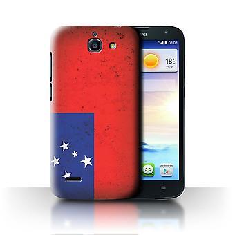 STUFF4 Fall/Abdeckung für Huawei Ascend G730/Samoa/Samoan/Oceania Flagge